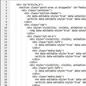Bootstrap 3 datovací šablona
